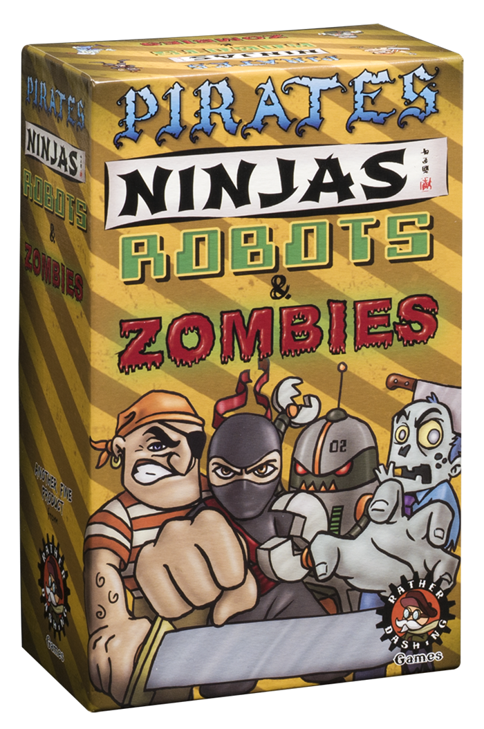 Pirates Ninjas Robots Zombies box facing right