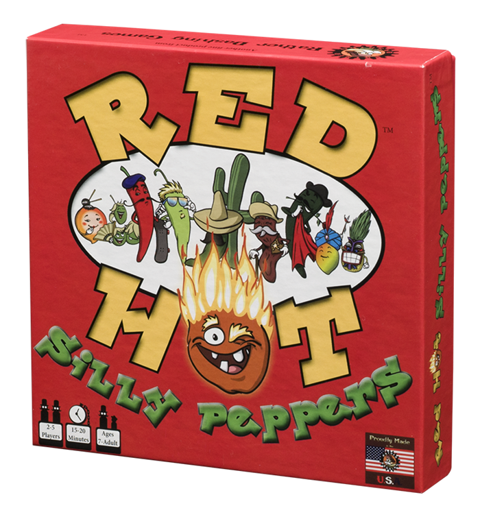 Red Hot Silly Peppers box facing left